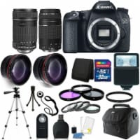 Canon Eos 70d Digital Slr Camera + 18-135mm + 75-300mm Lens + 32gb Accessory Kit - 1