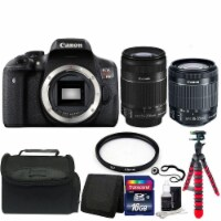 Canon Eos Rebel T6i Digital Slr Camera With 18-55mm Lens, 55-250mm Lens And Accessories