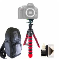 Flexible Tripod With Dslr Backpack And 3pc Cleaning Kit For Nikon Cameras - 1