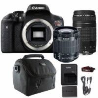 Canon Eos Rebel T6i Dslr Camera With 18-55mm Lens , 75-300mm Lens And Camera Case