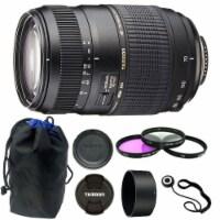 Tamron 70-300mm F/4-5.6 Di Ld Macro Autofocus Lens For Nikon + 62mm Accessories