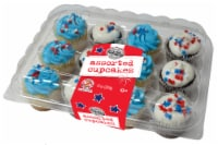 Two-Bite Patriotic Assorted Cupcakes
