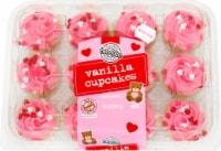 Two-Bite Valentines Vanilla Cupcakes 12 Count