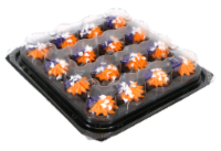 Two-Bite Ghost Sprinkle Brownies Party Platter - 14 oz