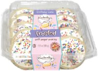 Kimberley's Bakeshoppe Birthday Cake Frosted Soft Sugar Cookies - 10 ct / 13.5 oz