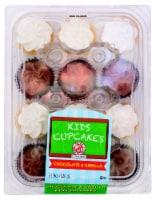 Kids Cupcakes Iced Chocolate & Vanilla Cupcakes