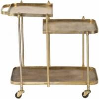Ren-Wil TA274 Forged Iron Vista Bar Cart, Antique Brass - Small