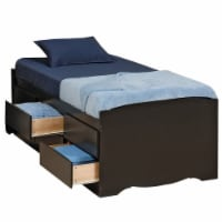 Prepac Sonoma Black Tall Twin Platform Storage Bed - 1