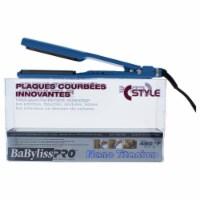 BaBylissPRO Nano Titanium Deep Curve Styler Flat Iron  Model BNTC3556C  Blue 1.5 Inch - 1.5 Inch