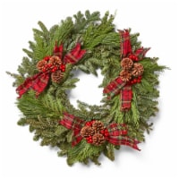 Brookdale Treeland Nurseries Black Friday Fresh 28 Inch Wreath -  Approximate Delivery is 4-6 Days