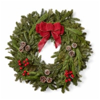 Brookdale Treeland Nurseries Noble Wreath with Burlap -  Approximate Delivery is 4-6 Days