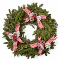 Brookdale Treeland Nurseries Mixed Fresh Wreath with Ribbon -  Approximate Delivery is 4-6 Days