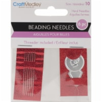 Beading Needles W/Threader-Size 10 6/Pkg - 1