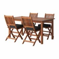 CorLiving Miramar Natural Hard Wood Outdoor Dining Set - 5pc - 1