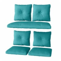 CorLiving 7pc Replacement Turquoise Fabric Cushion Set - 1