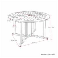 CorLiving Miramar Natural Wood Outdoor Folding Dining 5pc Set - 1
