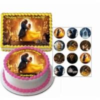BuySeasons 266314 Disney Beauty & The Beast Quarter Sheet Edible Cake Topper