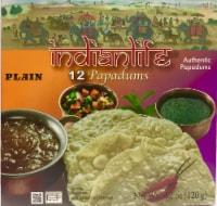 Indian Life Plain Papadums 12 Count