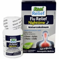 Homeolab USA Real Relief Flu Relief Nighttime Naturcoksinum Chewable Tablets