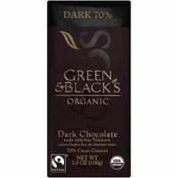 Green & Black's Organic Dark Chocolate, 70% Cacoa, 3.5 Ounce Bars (Pack of 10)