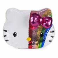 Gund Sanrio Hello Kitty Color Changing Rainbow Sequin Pillow
