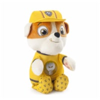 Paw Patrol Snuggle Up Rubble Soft Pup Stuffed Plush with 9 Sounds and Phrases - 1 Piece