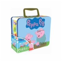 Peppa Pig Piece Puzzle in Tin Box with Handle - 1