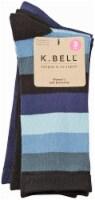 K. Bell® Soft & Dreamy Women's Crew Socks - 3 Pack - Tourmaline/Black/Blue
