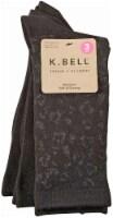K. Bell® Soft & Dreamy Women's Crew Socks - 3 Pack - Leopard/Black - 9-11