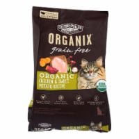 Castor and Pollux - Organix Grain Free Dry Cat Food -Chicken and Sweet Potato -Case of 5 -3lb