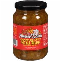 Famous Dave's Signature Spicy Pickle Relish - 16 fl oz