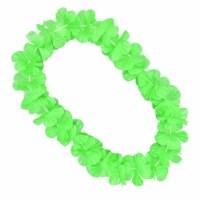 Hawaiian Flower Lei Necklace, Green - 1