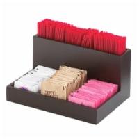 Midnight Bamboo Packet & Stirrer Organizer - 9 x 6.125 x 4.375 in. - 1