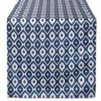 14 x 72 in. Blue Ikat Outdoor Table Runner
