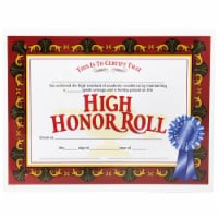 Hayes High Honor Roll Award, 8.5 x 11 in. - 30 Per Pack Certificates - Pack of 3 - 1