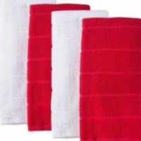 Assorted Tango Red Basic Chef Terry Dishtowel Set - Set of 4
