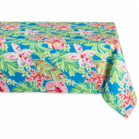 60 x 84 in. Summer Floral Outdoor Tablecloth - 1