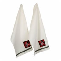 Snowflake Embellished Dish Towel Set - Set of 2 - 1