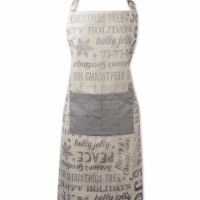 Silver Christmas Collage Chef Apron