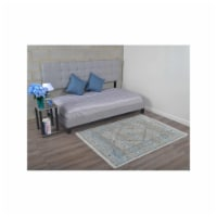 1 ft. 8 in. x 2 ft. 10 in. Machine Woven Crossweave Polyester Oriental Rectangle Area Rug, Mu