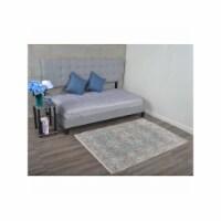 8 x 10 ft. Machine Woven Crossweave Polyester Oriental Rectangle Area Rug, Beige & Black - 1