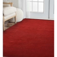 10 x 10 ft. Hand Knotted Gabbeh Wool Solid Square Area Rug, Red