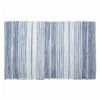 Variegated French Blue Recycled Yarn Rug, 2 x 3 ft.