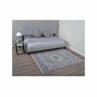 2 ft. x 3 ft. 10 in. Machine Woven Crossweave Polyester Oriental Rectangle Area Rug, Multi Co - 1