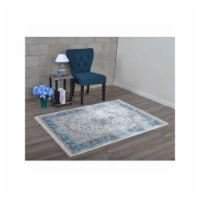 4 ft. 8 in. x 6 ft. 9 in. Machine Woven Crossweave Polyester Oriental Rectangle Area Rug, Mul