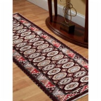 2 ft. 6 in. x 10 ft. Hand Knotted Afghan Wool & Silk Kazak Runner Rug, Multi Color - 1