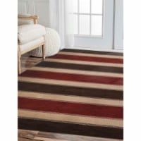 8 x 10 ft. Hand Knotted Gabbeh Wool Contemporary Rectangle Area Rug, Brown & Beige