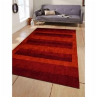 10 x 10 ft. Hand Knotted Gabbeh Silk Contemporary Square Area Rug, Rust - 1