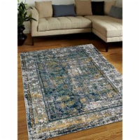 10 x 13 ft. Machine Woven Heatset Polypropylene Oriental Rectangle Area Rug, Silver - 1