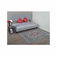 6 x 9 ft. Machine Woven Crossweave Polyester Oriental Rectangle Area Rug, Brown & Grey - 1